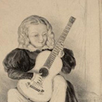 Le guitariste Regondi, enfant