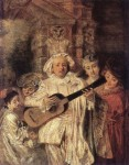 Watteau, Jean Antoine (1684-1721) - Gilles and his Family, 1716, The Wallace Collection