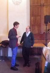 Raymond Zéliker et Mathieu de Person à l'abbaye Saint Vincent au Mans