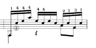 J.S. Bach, prélude en Ré mineur, mesure 15