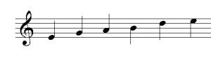 gamme pentatonique de mi mineur (2)