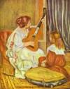 Pierre Auguste Renoir, la leçon de guitare, 1897