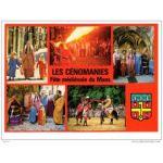 les cénomanies, carte postale de 1995